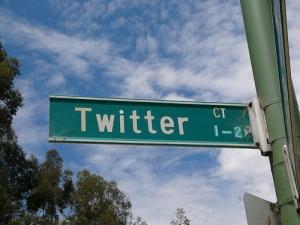 Twitter Street Sign