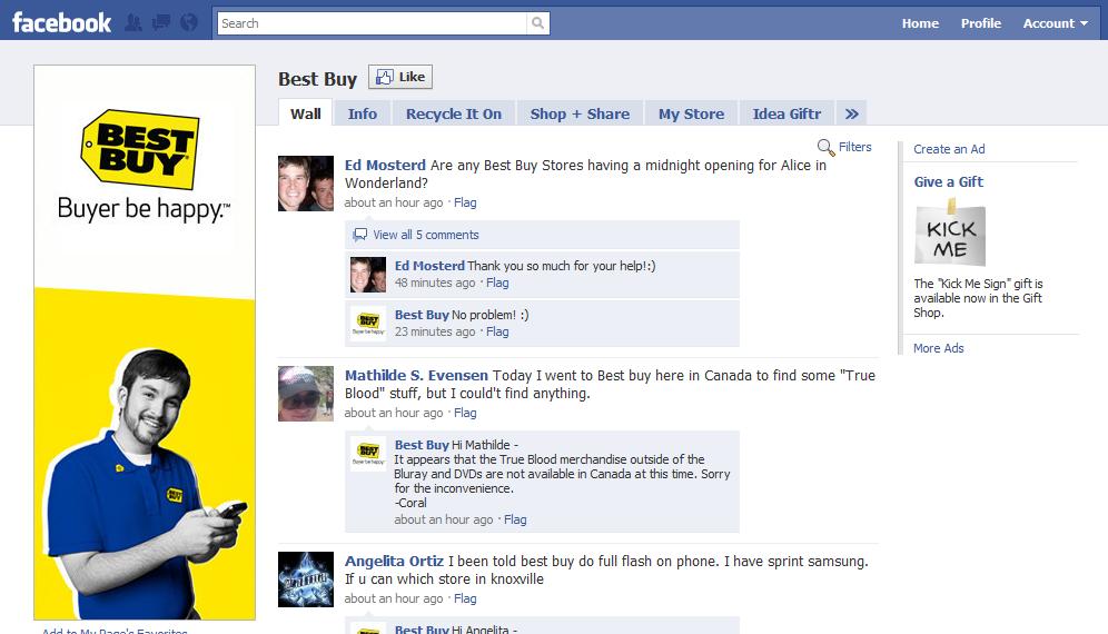 Best Buy Facebook Social Media Channel