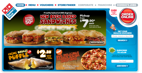 Dominos Pizza Smart Phone and iPhone Mobile App