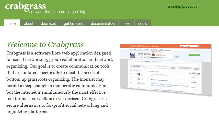 Facebook Competitor Crabgrass