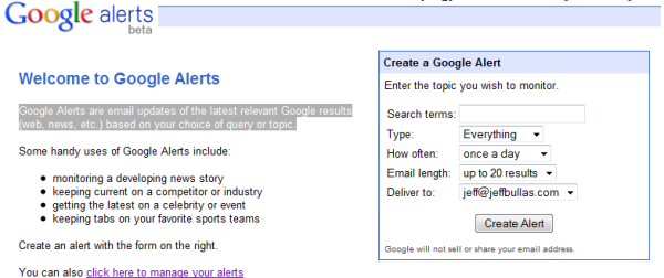 10 Ways To Find Inspiration For Writing Your Blog Google Alert
